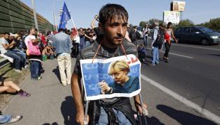 Imigrant uciekający z Budapesztu
