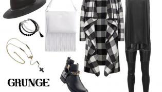 Jesienna STYLIZACJA z płaszczem w stylu grunge