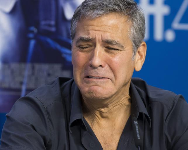 George Clooney płacze na zawołanie
