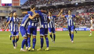 Radość piłkarzy Deportivo Coruna