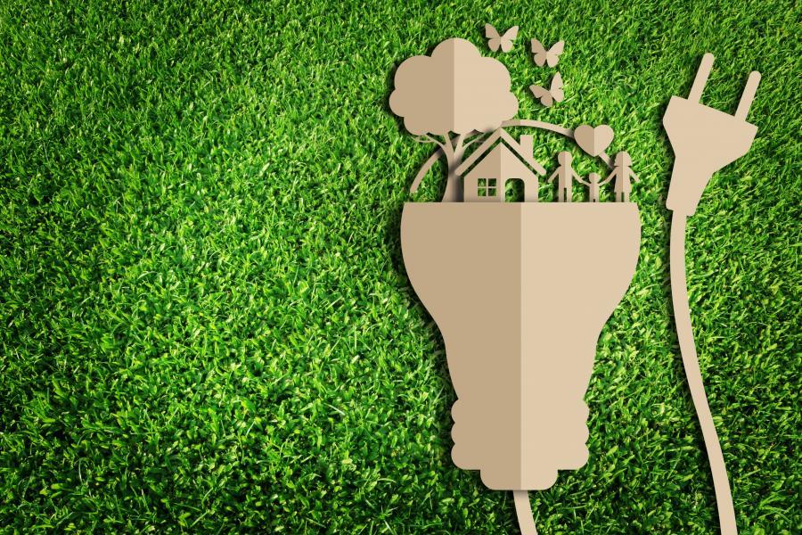Symbol oszczędzania energii w domu
