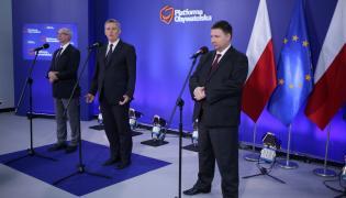 Marcin Kierwiński, Tomasz Siemoniak i Janusz Lewandowski