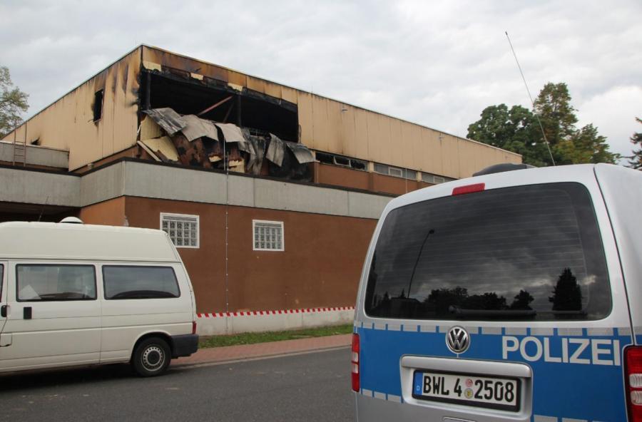 Podpalony ośrodek dla imigrantów w Wertheim