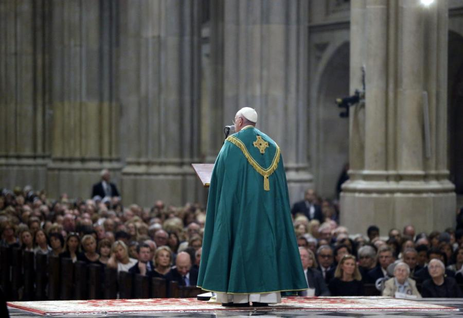 Papież Franciszek w Nowym Jorku, w katedrze świętego Patryka