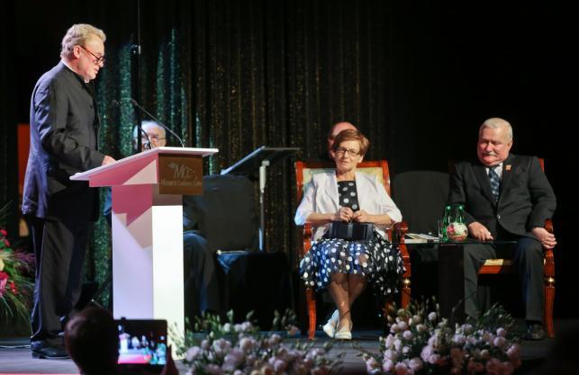 Daniel Olbrychski na urodzinach Lecha Wałęsy