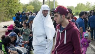 Imigranci na granicy Węgier i Austrii