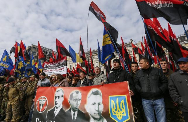 Marsz nacjonalistów na Ukrainie