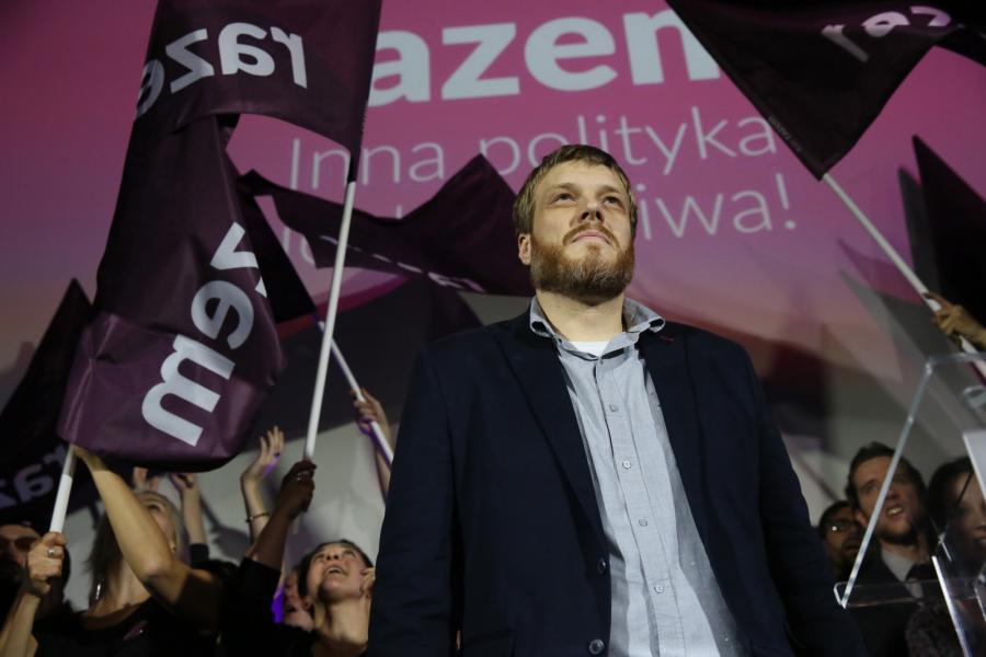 Partia Razem - 3,9 proc., poza parlamentem