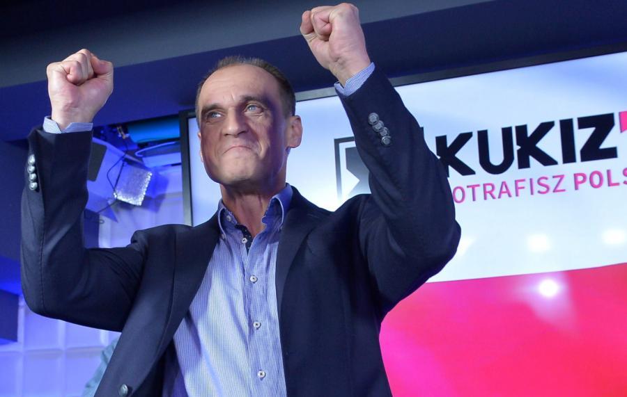 Lider ruchu Kukiz\'15 Paweł Kukiz