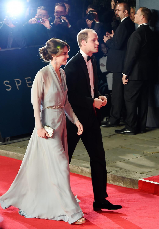 """Książę William i księżna Catherine na premierze """"Spectre"""" w Londynie"""
