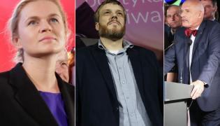 Barbara Nowacka, Adrian Zandberg, Janusz Korwin-Mikke