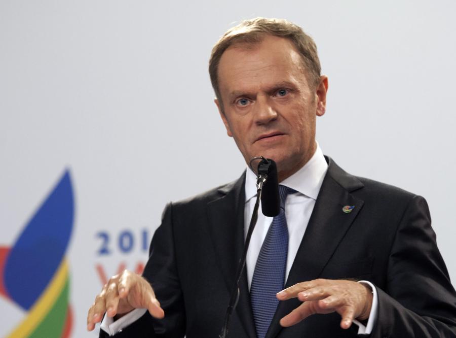 Donald Tusk przemawia w czasie szczytu na Malcie