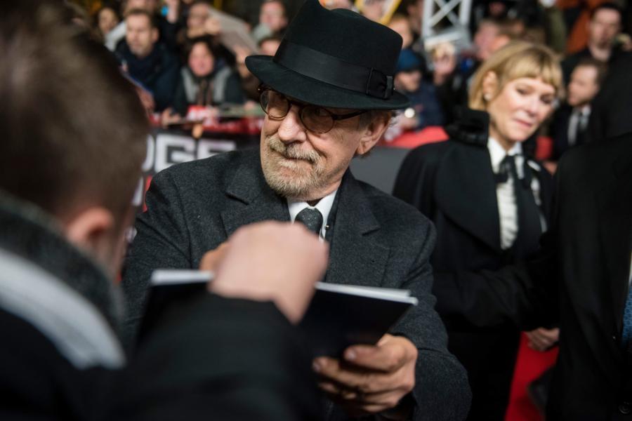 """Steven Spielberg na premierze """"Mostu szpiegów"""""""