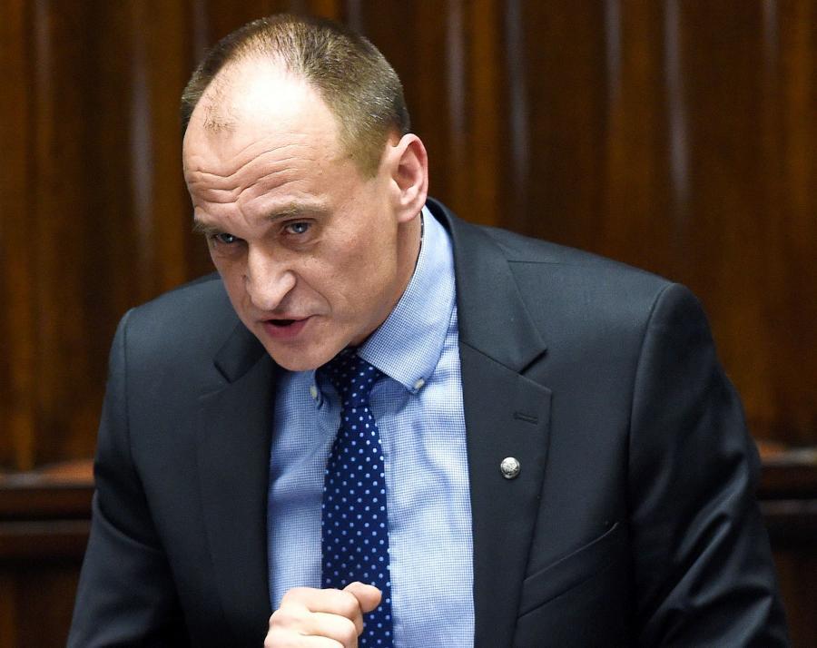Lider Ruchu Kikiz\'15 Paweł Kukiz przemawia podczas debaty nad expose