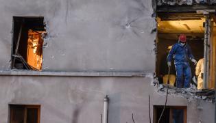 Saint Denis: Zniszczone mieszkanie po wybuchu