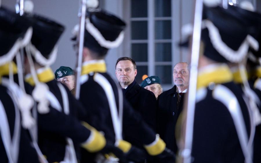 Prezydent Andrzej Duda i Antoni Macierewicz