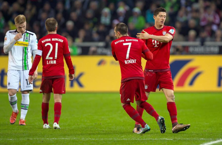 Franck Ribery i Robert Lewandowski