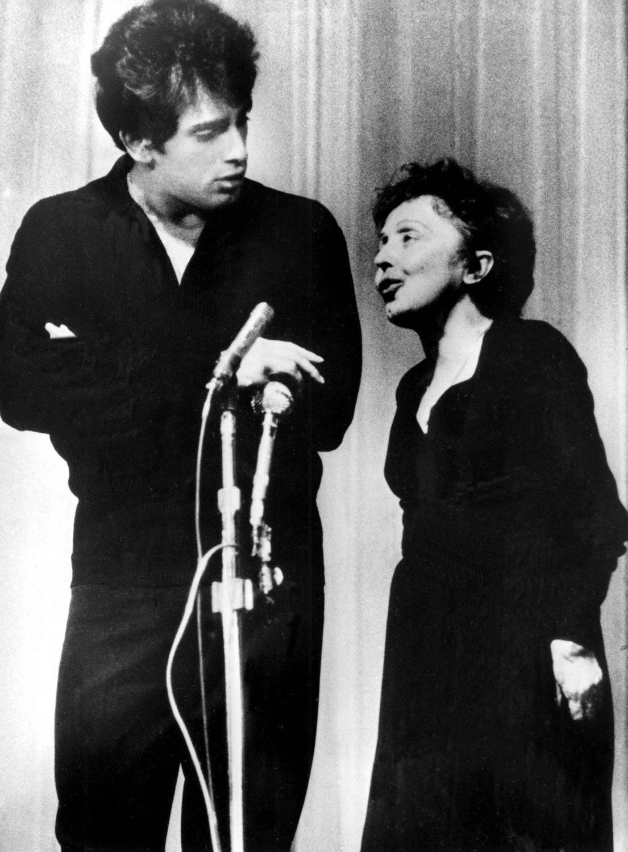 Edith Piaf i jej mąż Théophanis Lamboukas, czyli Theo Sarapo w 1962 roku