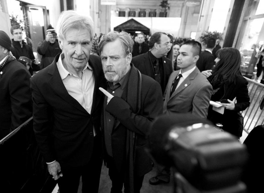 """Harrison Ford i Mark Hamill na premierze """"Gwiezdnych wojen: Przebudzenia Mocy"""""""