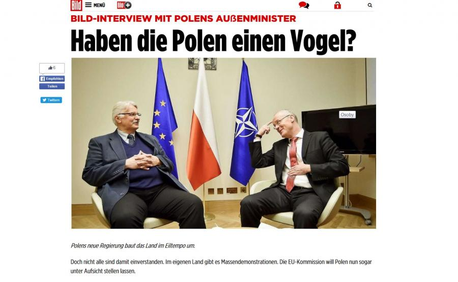 Wywiad z Witoldem Waszczykowskim w niemieckim dzienniku \