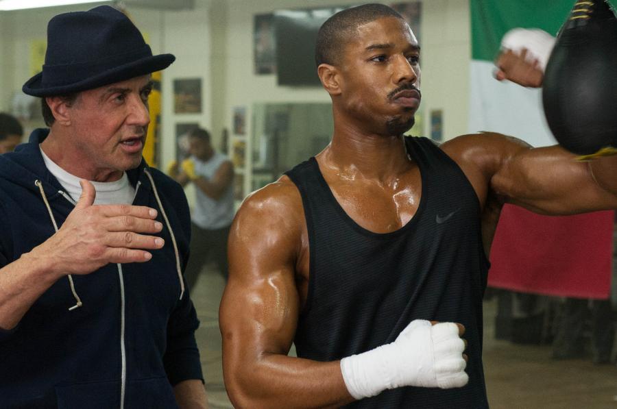 "Michael B. Jordan i Sylvester Stallone w filmie ""Creed: Narodziny legendy"""