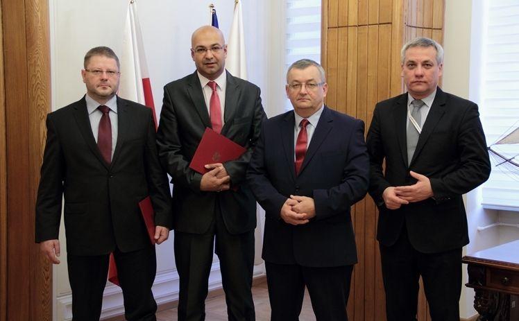 Tomasz Połeć, Alvin Gajadhur, Andrzej Adamczyk i Jerzy Szmit