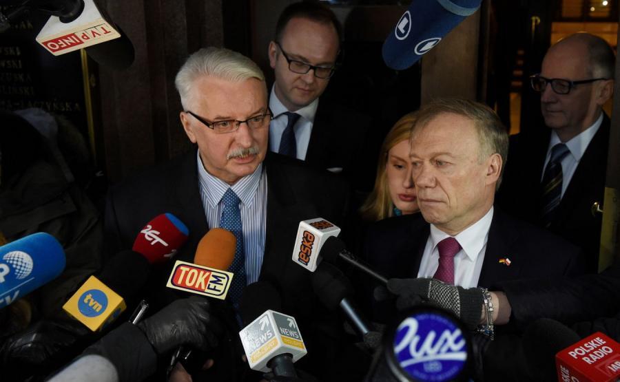 Witold Waszczykowski i niemiecki ambasador Rolf Nikel