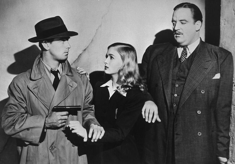 "Laird Cregar (na zdjęciu z filmu ""This Gun For Hire"" z Veronicą Lake i Alanem Laddem)"
