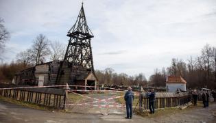 Spalony kościół w Libuszy