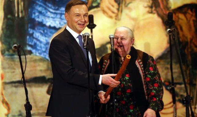 Prezydent Duda w Zakopanem. Bawił się z góralami na \