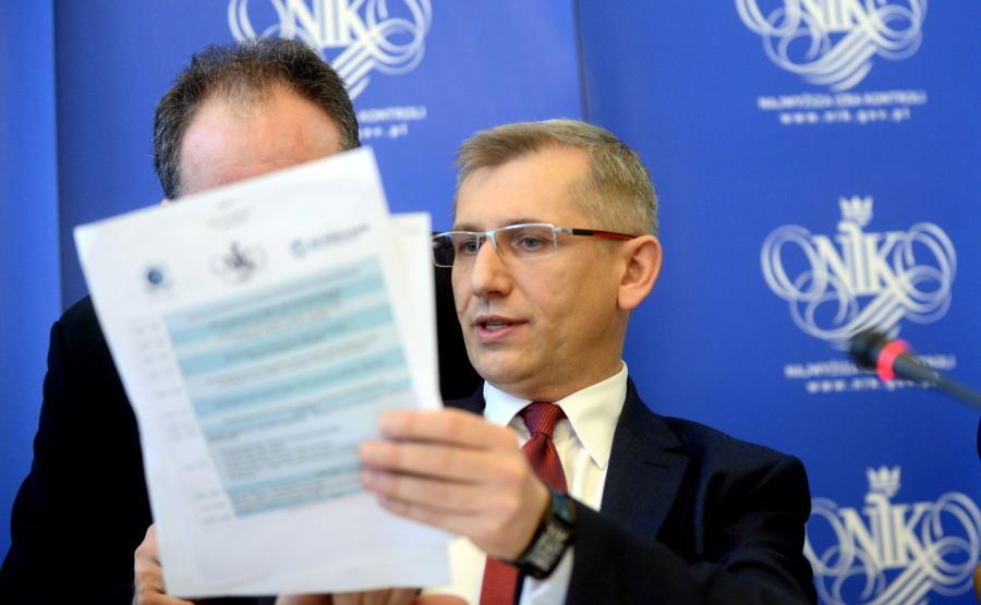 Krzysztof Kwiatkowski, prezes Najwyższej Izby Kontroli, podczas konferencji \