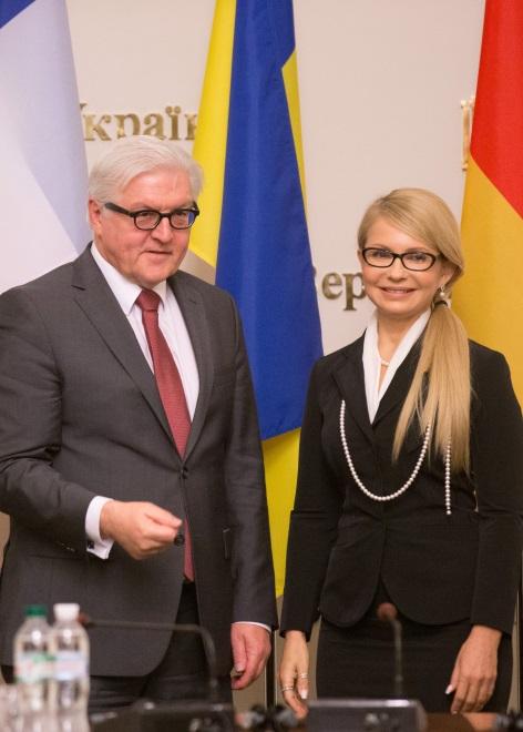 Frank-Walter Steinmeier i Julia Tymoszenko