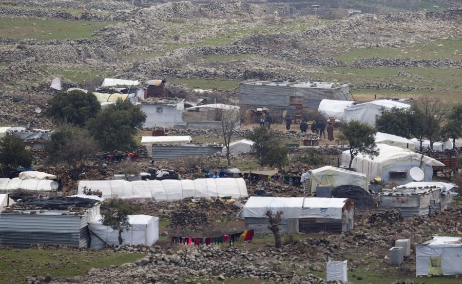Obóz syryjskich uchodźców