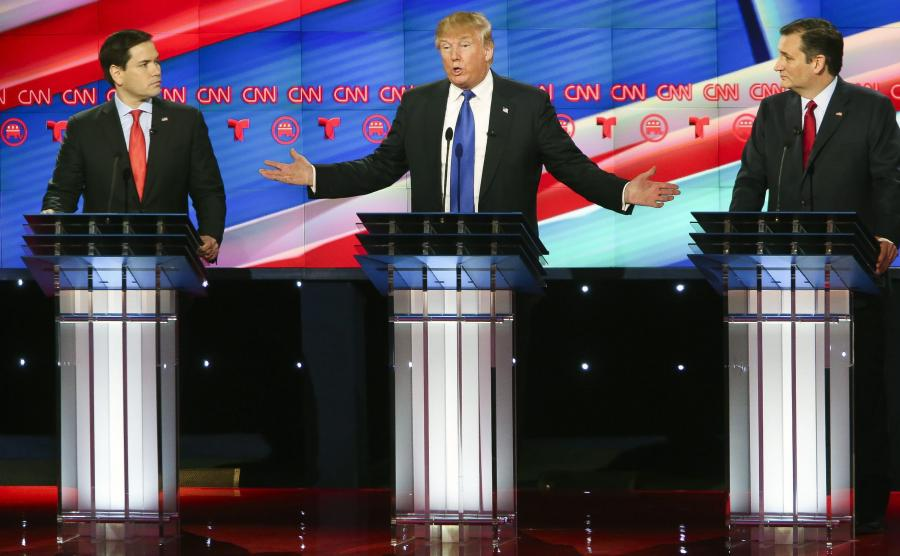 Marco Rubio, Donald Trump i Ted Cruz