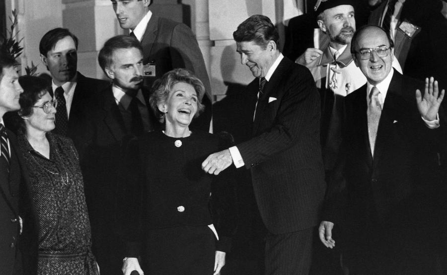 Nancy Reagan wraz z mężem Ronaldem