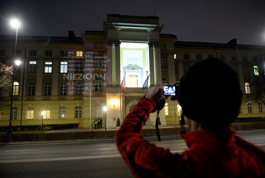 Protest przed Kancelarią Prezesa Rady Ministrów
