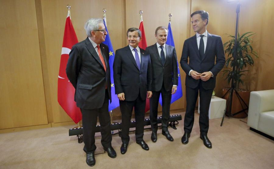 Jean-Claude Juncker, Ahmet Davutoglu, Donald Tusk i Mark Rutte