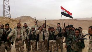 Wojska syryjskie w Palmirze