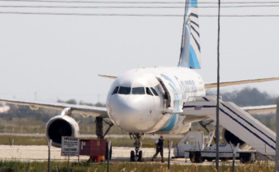 Porwany egipski samolot