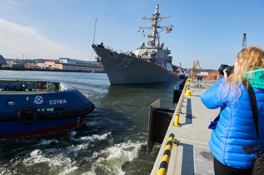USS Donald Cook w Gdyni