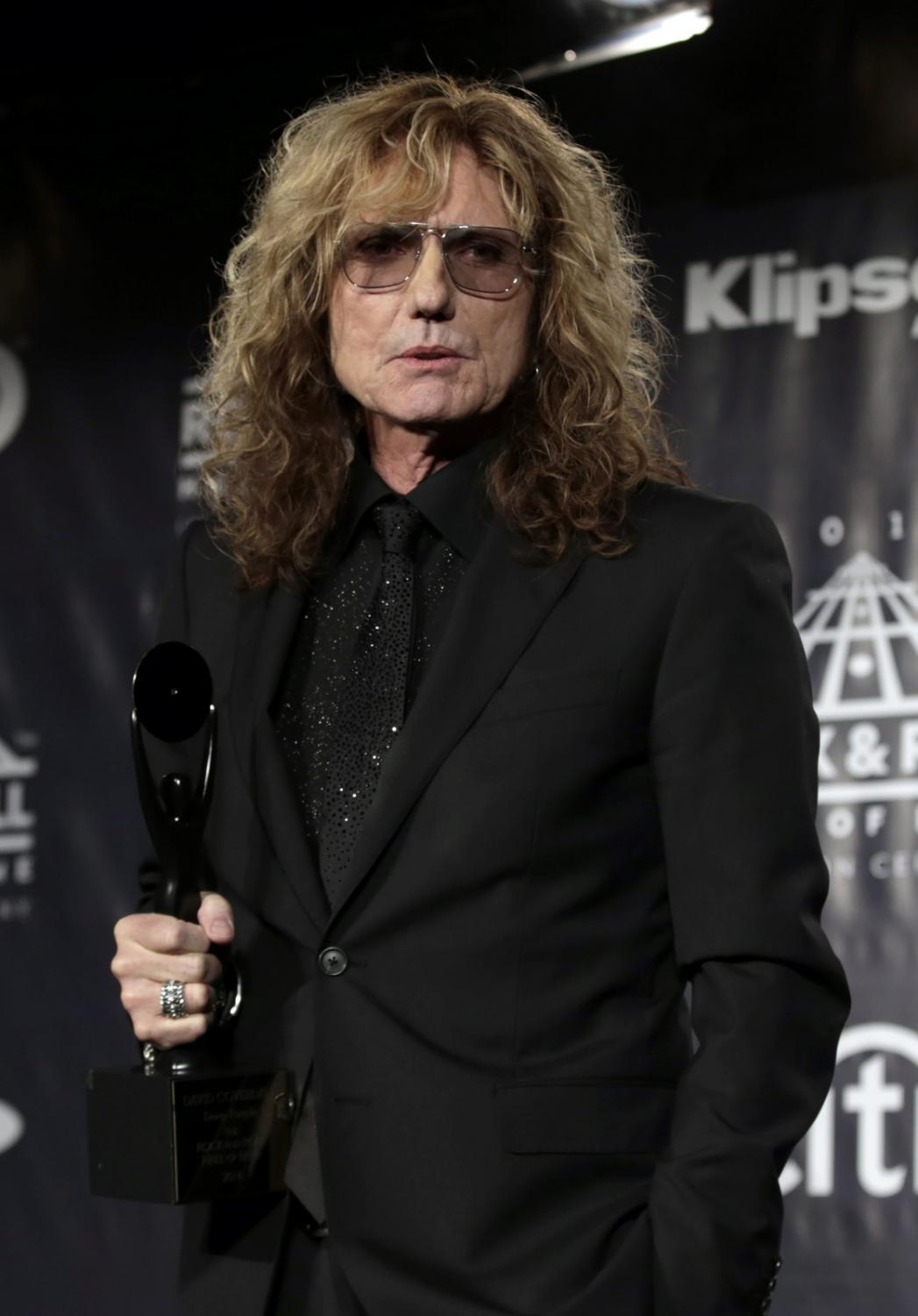 David Coverdale podczas ceremonii wprowadzenia do Rock and Roll Hall of Fame
