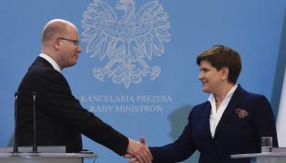 Premier Czech Bohuslav Sobotka i premier Polski Beata Szydło