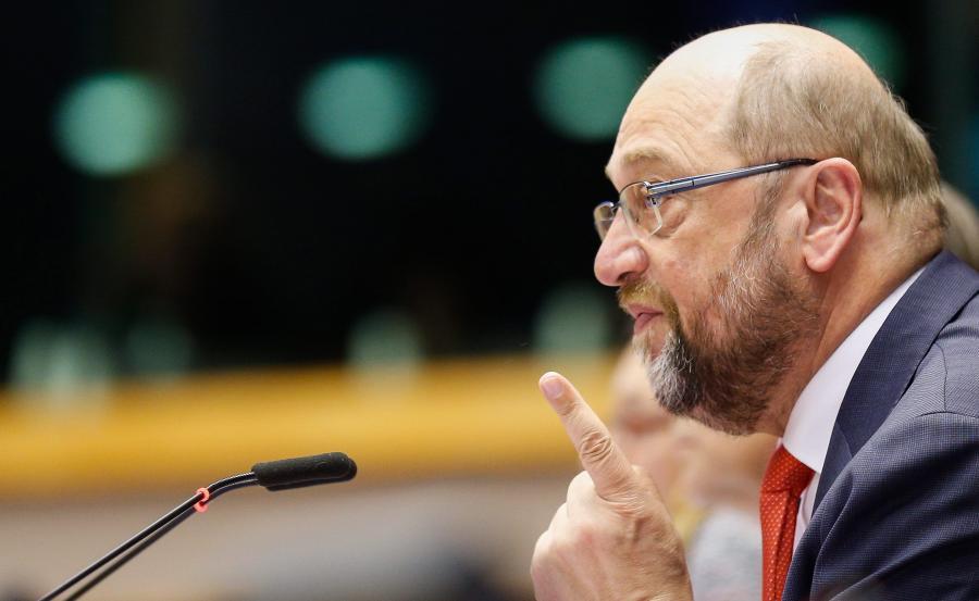 Martin Schulz, przewodniczący socjalistów w Parlamencie Europejskim i przewodniczący europarlamentu