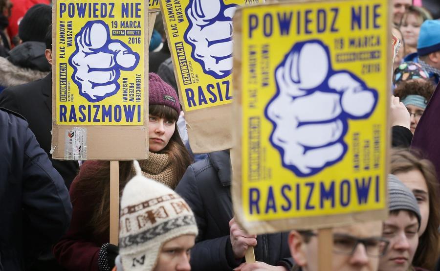 Manifestacja przeciwko rasizmowi