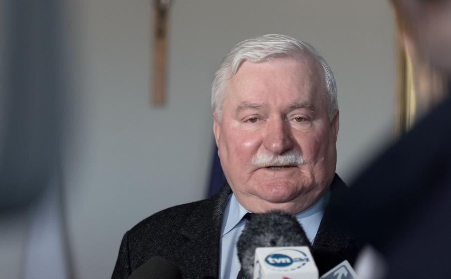 Lech Wałęsa udziela wywiadu