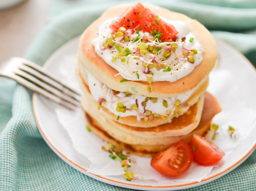 Szczypiorkowe pancakes