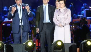 Bronisław Komorowski; Michael Mueller(burmistrz Berlina); Hanna Gronkiewicz-Waltz