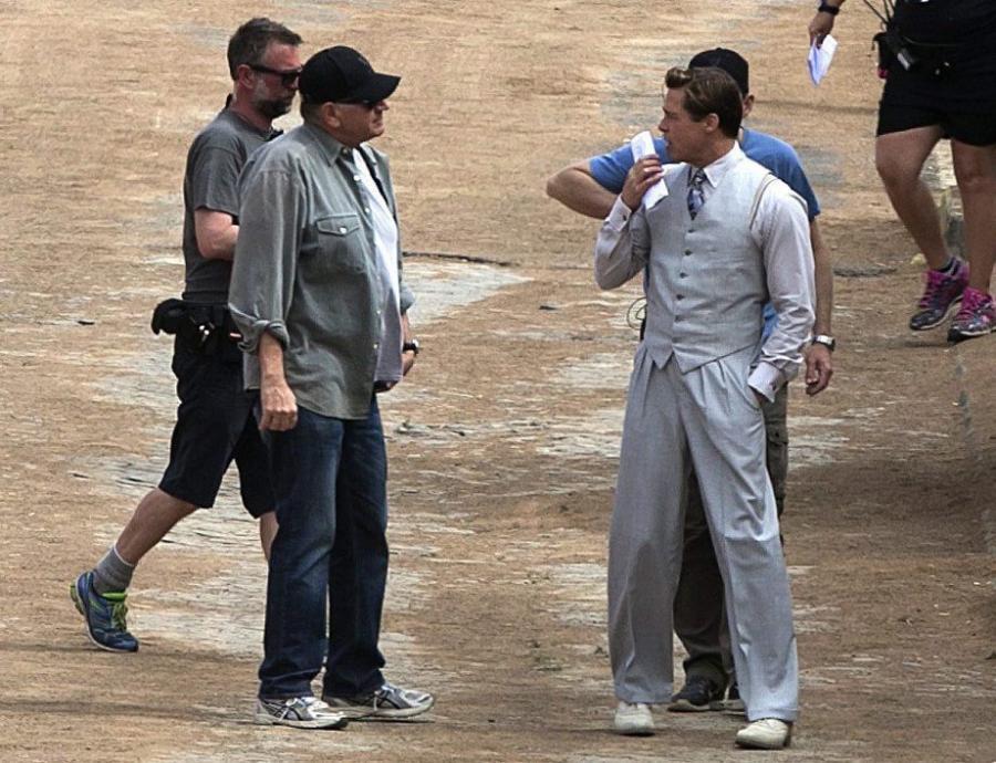 Brad Pitt kręci \