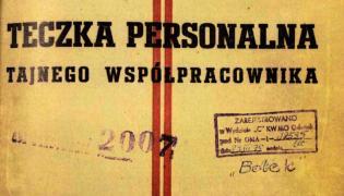 Teczka tajnego współpracownika o pseudonimie Bolek