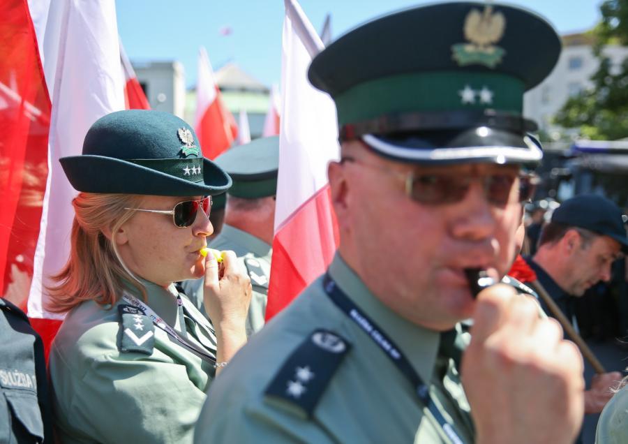 Prostest Celników pod Sejmem